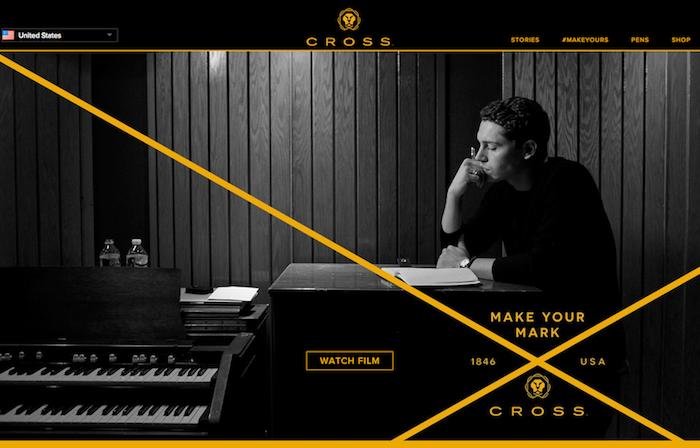 storytelling Cross web corporate
