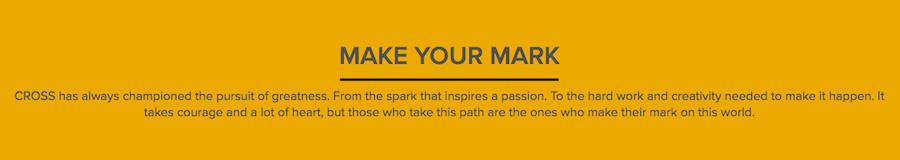storytelling cross make your mark